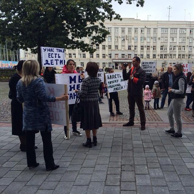 Несостоявшиеся жители молодежного поселка в Гизели вышли на митинг  #graduspro #севернаяосетия