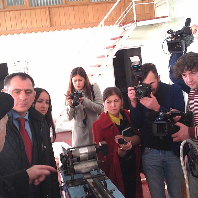 Сегодня глава МО Владикавказ  Махарбек Хадарцев посетил с рабочим визитом НПП