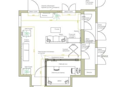 проект холла для общежития