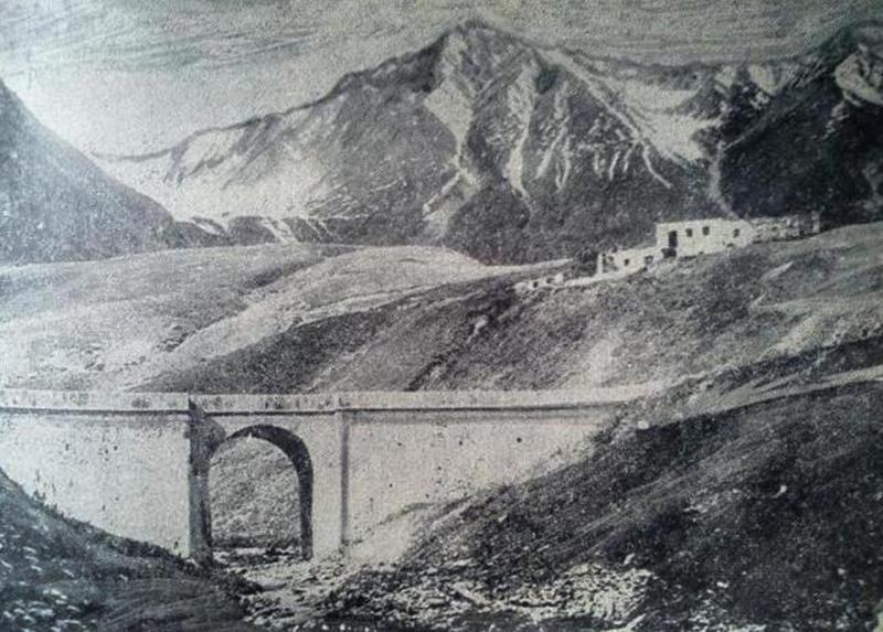 Кулагинский мост и сакли Бидарова нач. ХХ в.