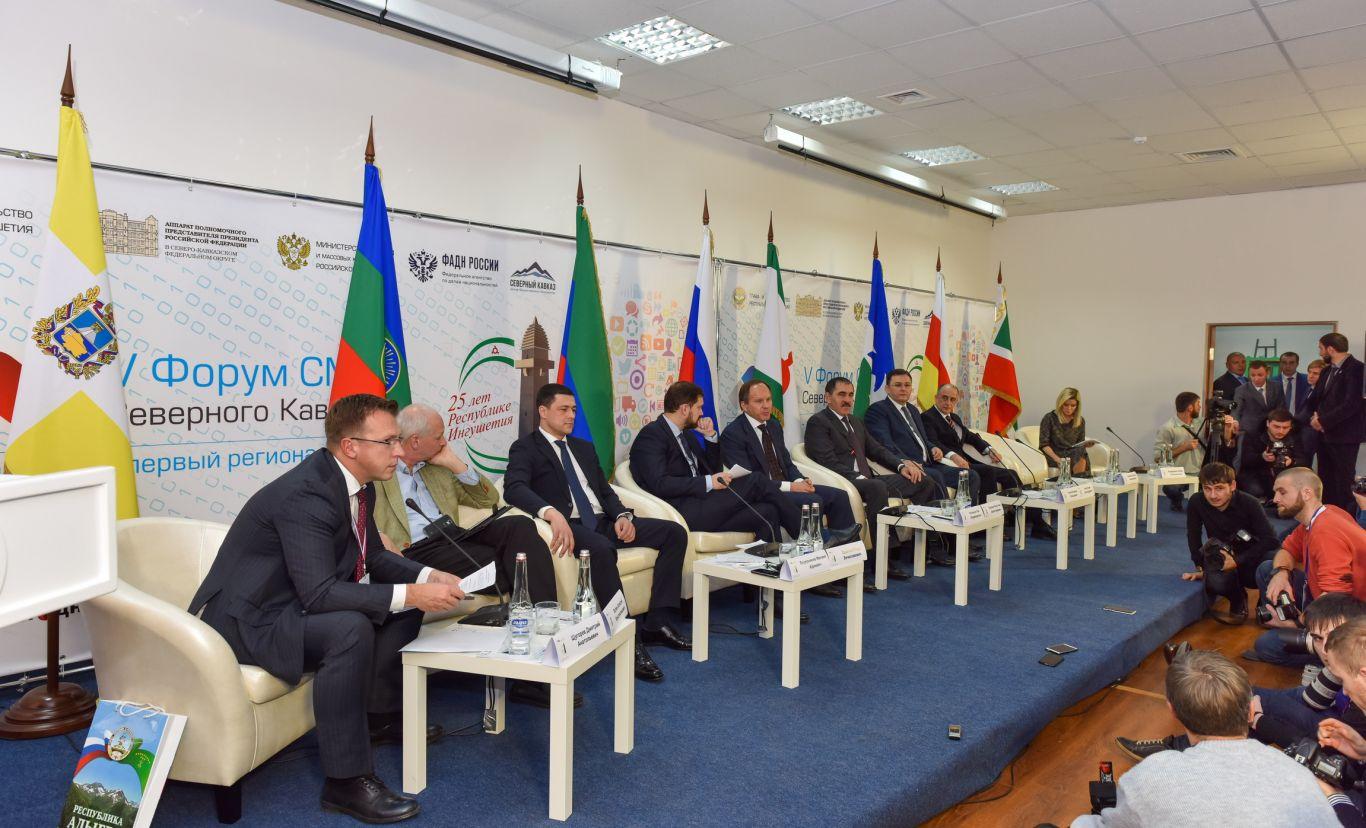 Форум СМИ Северного Кавказа: руководитель Ингушетии осмотрел стенд «Мира»